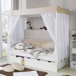 Bauernbett 90x200 Himmel Bett Weiß Mit Bettkasten Betten Lattenrost Und Matratze Weißes Schubladen Kiefer Wohnzimmer Bauernbett 90x200