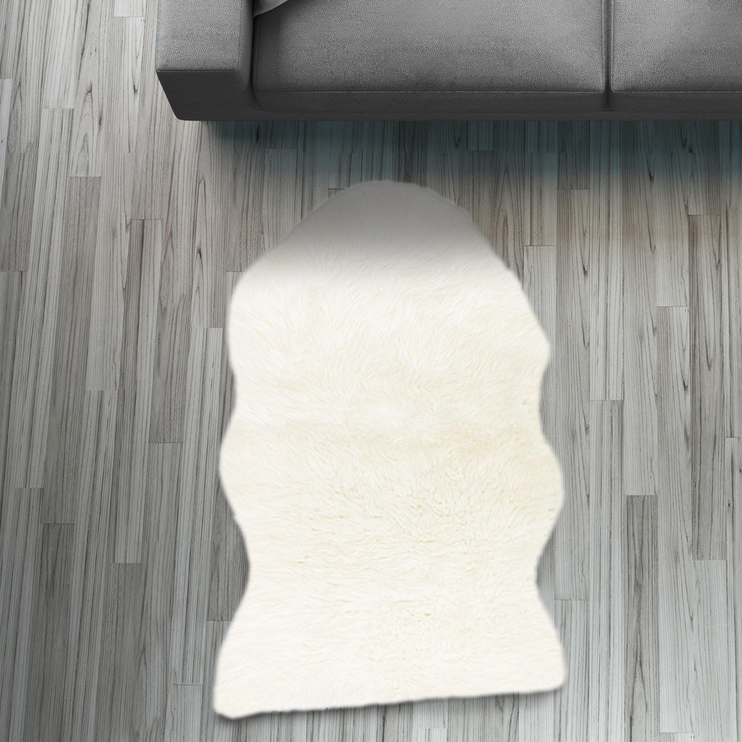 Full Size of Fell Lufer Teppich Wei 55x80 Cm Sofa Stuhl Matte Hasenfell Wohnzimmer Teppiche Home Affaire Bett Affair Big Wohnzimmer Home 24 Teppiche