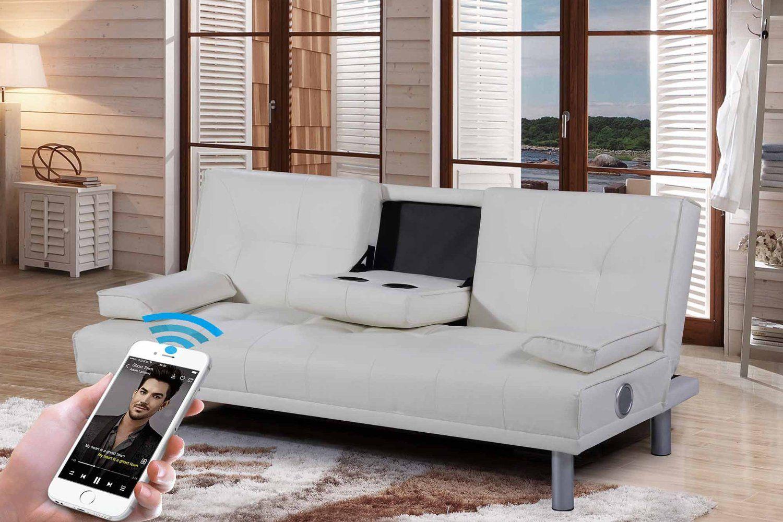 Full Size of Sofa Mit Musikboxen Couch Lautsprecher Und Led Integriertem Poco Eingebauten Lautsprechern Licht Bluetooth Big Neue Manhattan Modernesleep Designkunstleder Wohnzimmer Sofa Mit Musikboxen