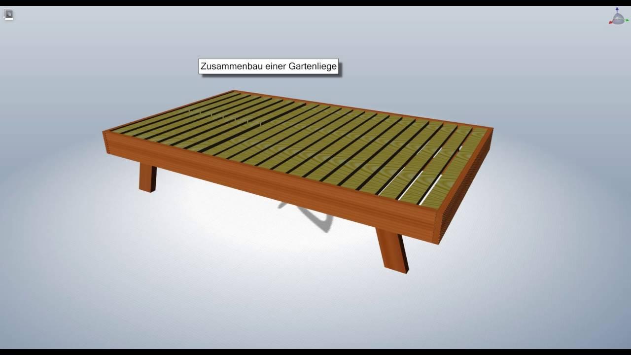 Full Size of Bauhaus Gartenliege Zusammenbau Einer Youtube Fenster Wohnzimmer Bauhaus Gartenliege