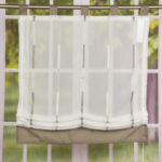 Raffrollo Mit Schlaufen Modern Rollo Wei Transparent Braunen Streifen Miniküche Kühlschrank Bett 140x200 Stauraum Sofa Elektrischer Sitztiefenverstellung Wohnzimmer Raffrollo Mit Schlaufen Modern