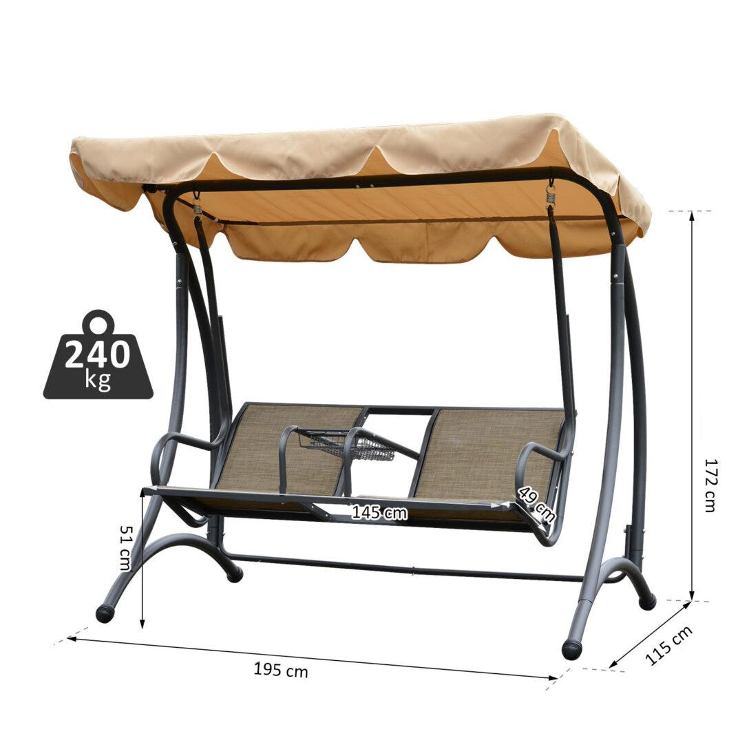 Large Size of Outsunny 2 Sitzer Hollywoodschaukel Schaukel Mit Sonnendach Regal Metall Weiß Regale Bett Wohnzimmer Gartenschaukel Metall