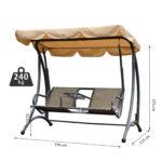 Outsunny 2 Sitzer Hollywoodschaukel Schaukel Mit Sonnendach Regal Metall Weiß Regale Bett Wohnzimmer Gartenschaukel Metall