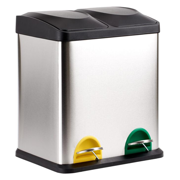 Medium Size of Hartleys Edelstahl Mlleimer Treteimer Recycling Doppel Behlter Mülleimer Küche Doppelblock Einbau Wohnzimmer Doppel Mülleimer