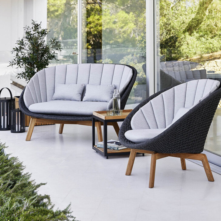 Medium Size of Couch Terrasse Cane Line Peasoft Rope 2 Sitzer Sofa Dunkelgrau Zawoh Wohnzimmer Couch Terrasse