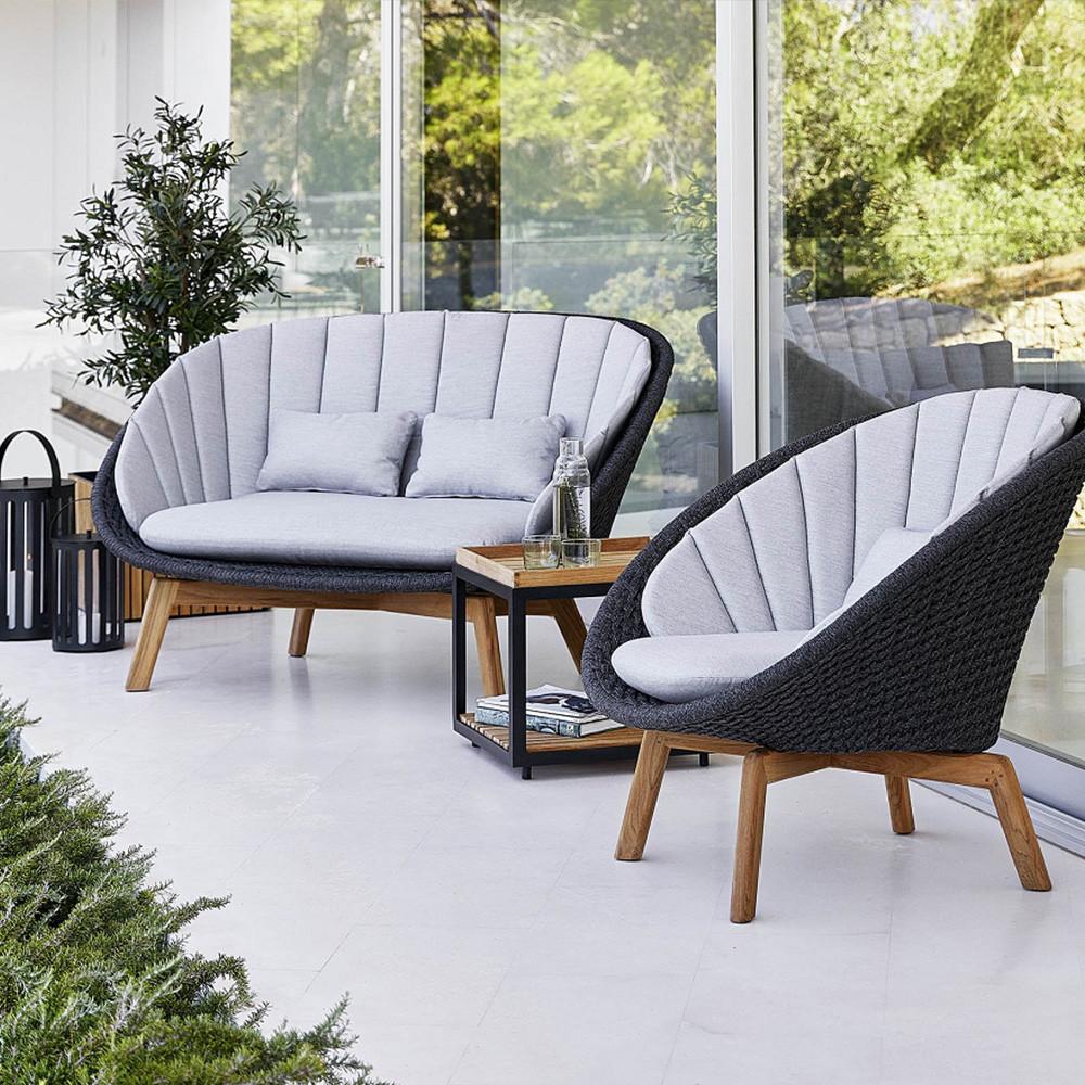 Full Size of Couch Terrasse Cane Line Peasoft Rope 2 Sitzer Sofa Dunkelgrau Zawoh Wohnzimmer Couch Terrasse
