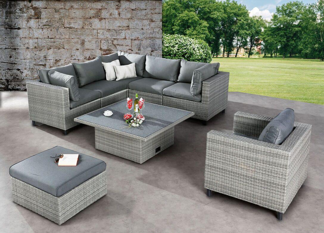 Large Size of Lounge Set Bonaire Warm Gray Gruppen Gartenmbel Wohnzimmer Megasofa Aruba