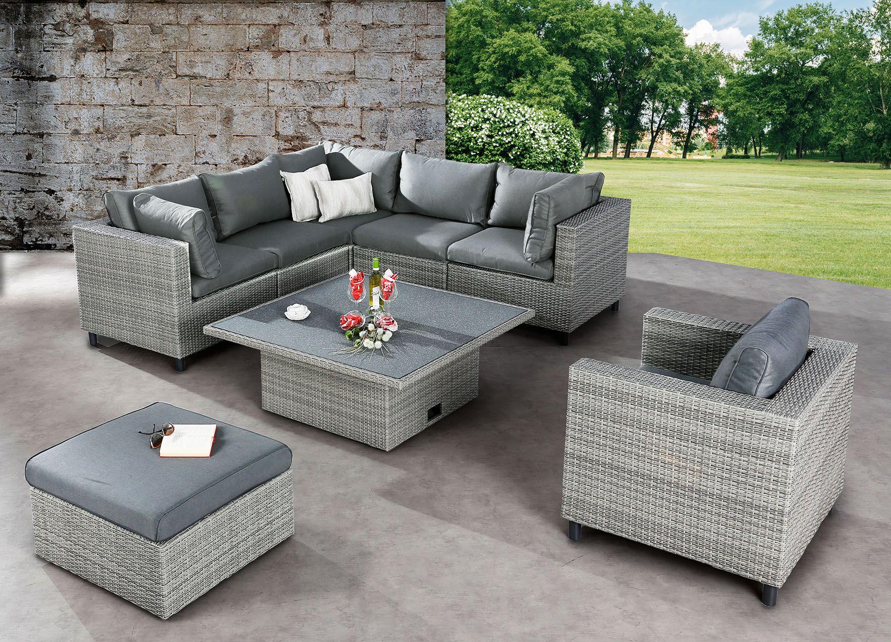 Full Size of Lounge Set Bonaire Warm Gray Gruppen Gartenmbel Wohnzimmer Megasofa Aruba
