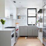 Küche Zweifarbig Wohnzimmer Küche Zweifarbig Einrichtung Von Kchen In Wei Und Grau Sockelblende Schneidemaschine Einbauküche Weiss Hochglanz Landhausstil Rosa Kaufen Mit Elektrogeräten