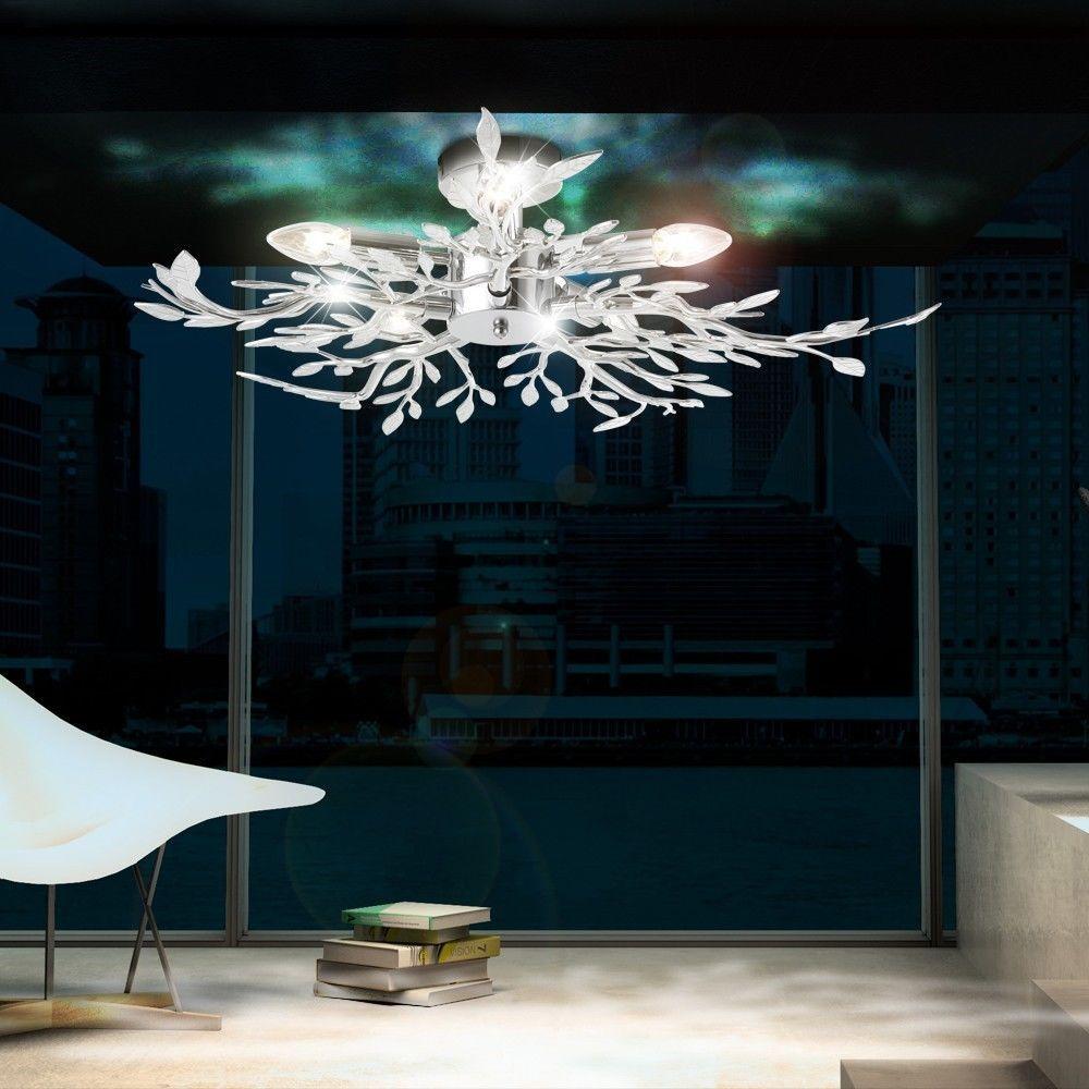 Full Size of Designer Lampen Wohnzimmer Details Zu Decken Leuchte Beleuchtung Acryl Bltter Verchromt Schrankwand Deckenlampen Modern Kommode Tischlampe Moderne Bilder Fürs Wohnzimmer Designer Lampen Wohnzimmer