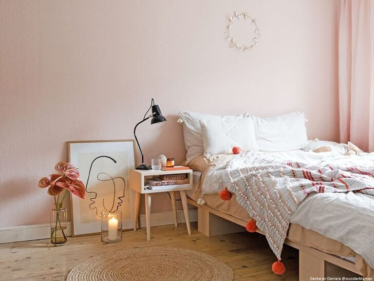 Medium Size of Rosa Küche Wohnzimmer Wandfarbe Rosa