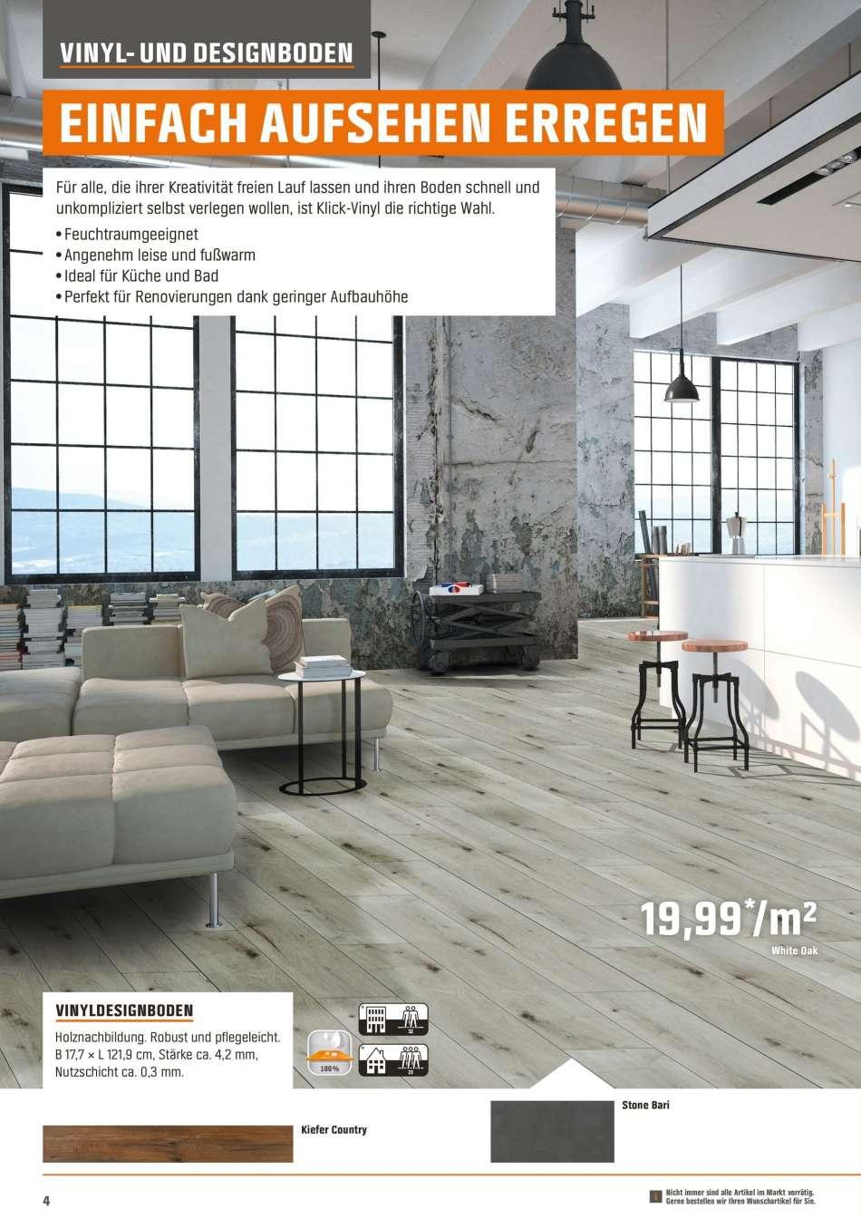 Full Size of Vinylboden Obi Angebote 1682018 3172019 Rabatt Kompass Nobilia Küche Einbauküche Fenster Im Bad Verlegen Wohnzimmer Mobile Immobilien Homburg Regale Wohnzimmer Vinylboden Obi