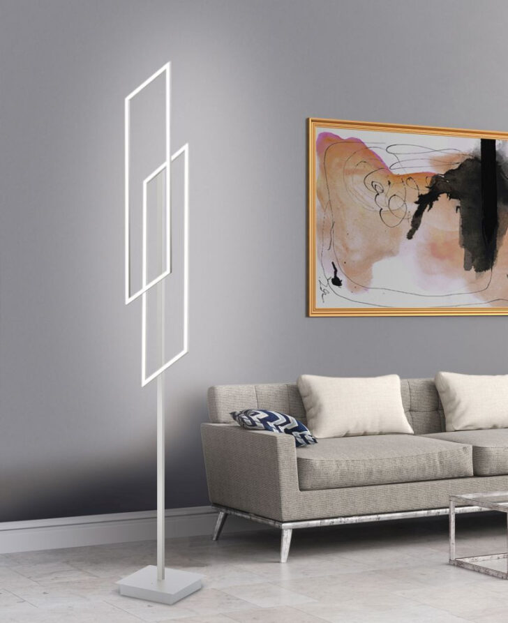 Medium Size of Wohnzimmer Stehlampe Modern Led Stehleuchte In Stahl Mit Lichtfarbsteuerung Deckenleuchten Teppich Deckenlampen Bilder Xxl Schrankwand Deko Decken Liege Wohnzimmer Wohnzimmer Stehlampe Modern