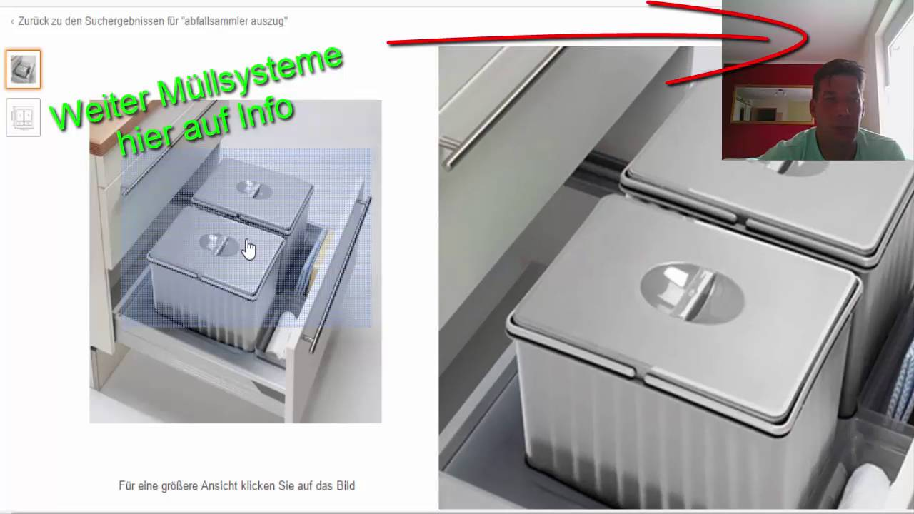 Full Size of Auszug Mülleimer Ikea Abfallsystem Fr Einbaukchen Mllsystem Auszugschrank Video 3 Miniküche Sofa Mit Schlaffunktion Betten Bei Modulküche Küche Kaufen Wohnzimmer Auszug Mülleimer Ikea