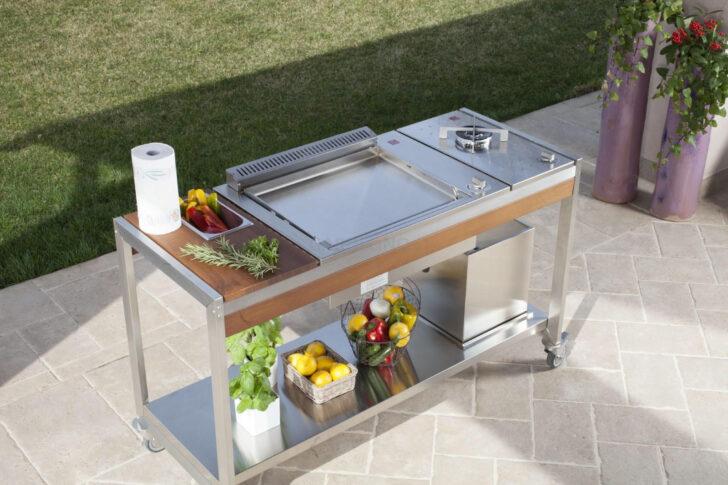 Medium Size of Mobile Outdoorkchen Fr Garten Und Terrasse Küche Wohnzimmer Mobile Outdoorküche