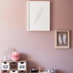 Wandfarbe Rosa Alpina Feine Farben Homeoffice Und Kreativraum Im Landhausstil Küche Wohnzimmer Wandfarbe Rosa