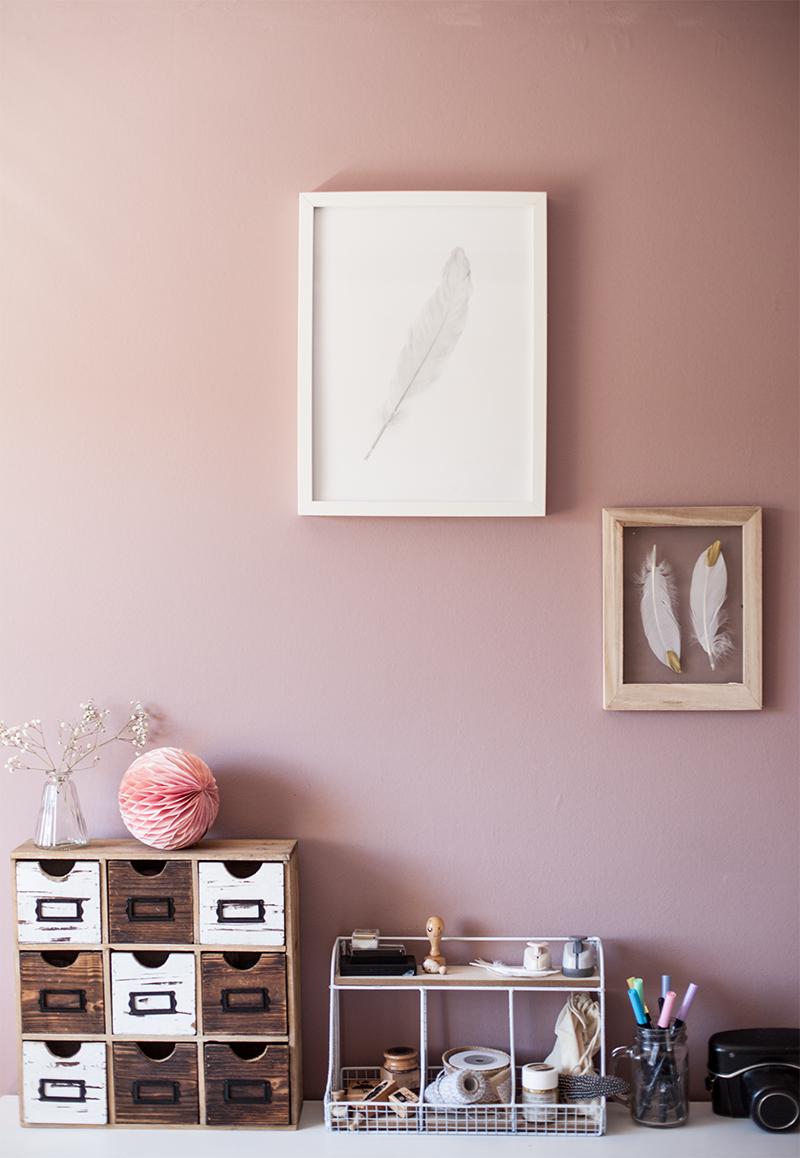 Full Size of Wandfarbe Rosa Alpina Feine Farben Homeoffice Und Kreativraum Im Landhausstil Küche Wohnzimmer Wandfarbe Rosa
