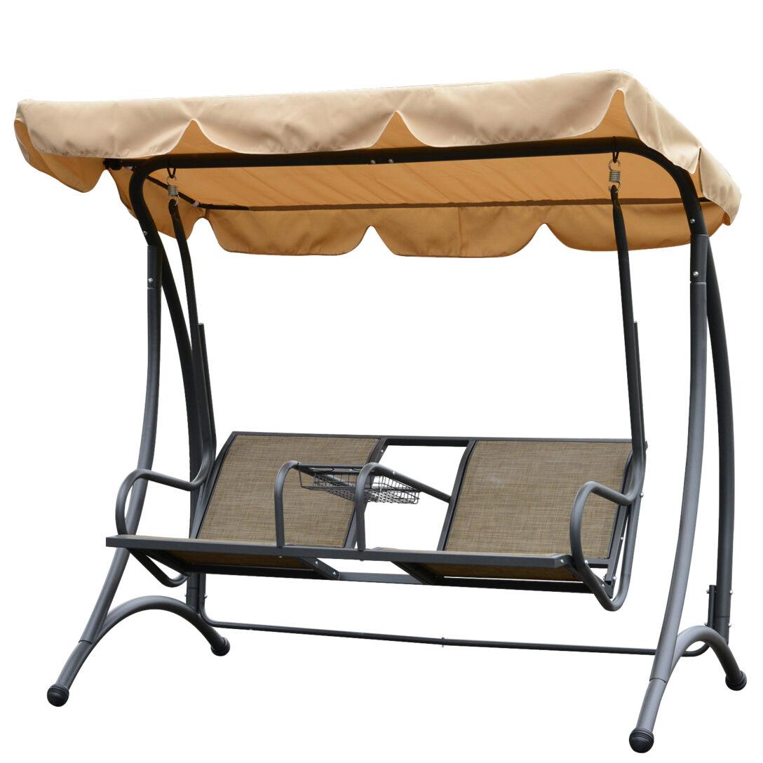 Large Size of Outsunny 2 Sitzer Hollywoodschaukel Schaukel Mit Sonnendach Metall Bett Regal Weiß Regale Wohnzimmer Gartenschaukel Metall