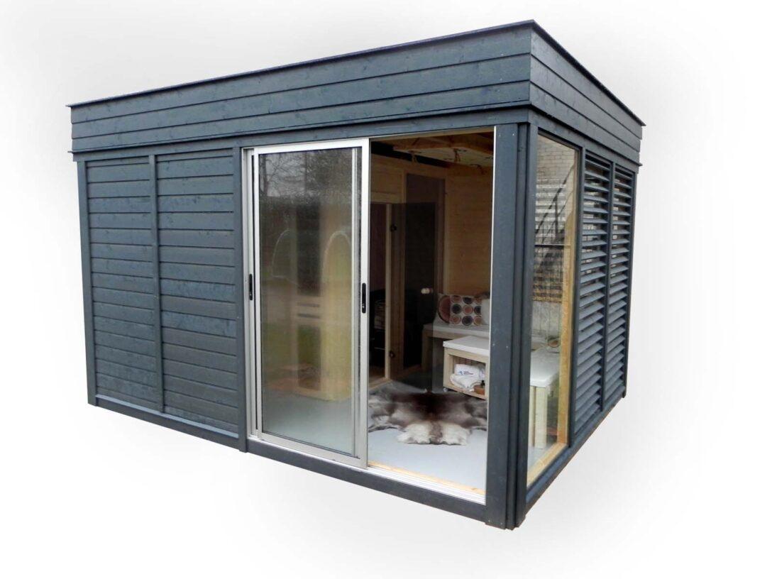 Large Size of Gartensauna Sauna Cube 4 3 M Breite Tiefe Aus Fichtenholz Wohnzimmer Gartensauna Bausatz