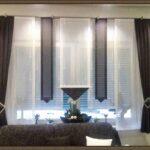 Scheibengardinen Balkontür Wohnzimmer Gardinen Balkontr Und Fenster Modern Natrliche Streifen Achat Scheibengardinen Küche