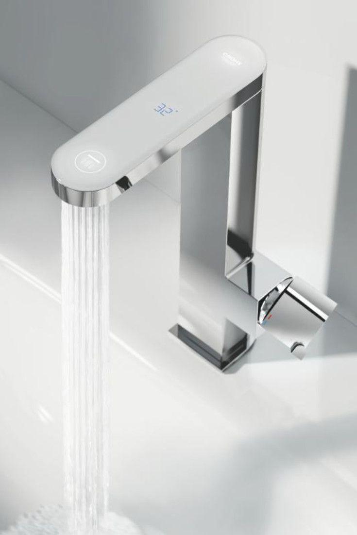 Full Size of Grohe Wasserhahn Plus Waschtischarmatur Mit Digitalem Led Display Thermostat Dusche Küche Wandanschluss Für Bad Wohnzimmer Grohe Wasserhahn