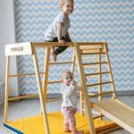 Kidwood Klettergerüst 1 Klettergerst Rakete Basis Set Aus Holz Fr Indoor Garten Wohnzimmer Kidwood Klettergerüst