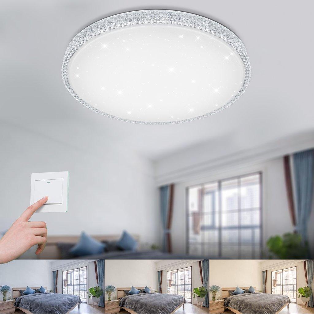 Full Size of 64w Led Kristall Deckenleuchte Starlight Design Wohnzimmer Küchen Regal Schlafzimmer Deckenlampe Deckenlampen Küche Für Esstisch Bad Modern Wohnzimmer Küchen Deckenlampe