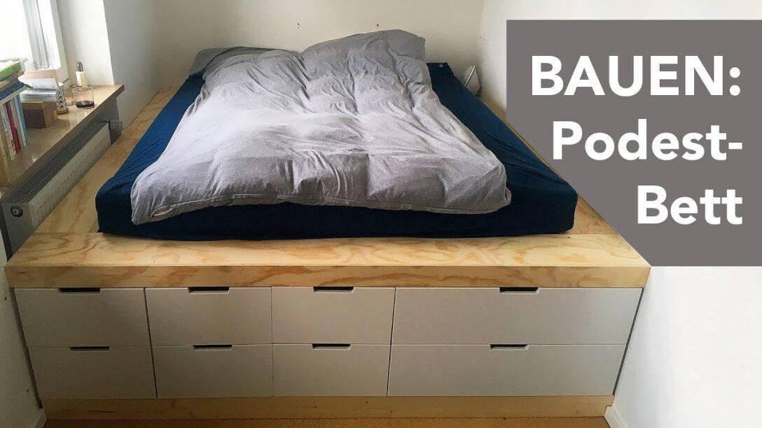 Large Size of Podestbett Ikea Bauen Podest Bett Selber Anleitung Hack Diy Aus Regalen Youtube Miniküche Küche Kosten Betten Bei 160x200 Modulküche Sofa Mit Schlaffunktion Wohnzimmer Podestbett Ikea