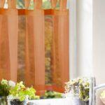 Küchenvorhang Wohnzimmer Scheibengardine Querbehang Einfarbig Orange Gardinen Outlet