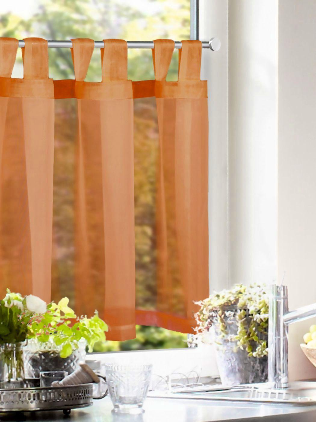 Full Size of Scheibengardine Querbehang Einfarbig Orange Gardinen Outlet Wohnzimmer Küchenvorhang