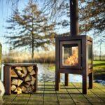 Holzlege Cortenstahl Holz Kaminofen Quaruba Xl Rb73 Zentral Glas Wohnzimmer Holzlege Cortenstahl