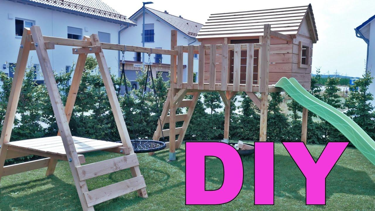 Full Size of Klettergerüst Indoor Diy Spielturm Mit Rutsche Selber Bauen Der Hlt Alles Aus Youtube Garten Wohnzimmer Klettergerüst Indoor Diy