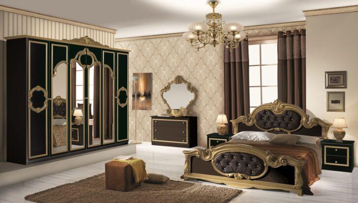 Medium Size of Schlafzimmer Komplett Schwarz Set Barocco 7 Teilig In Gold 160x200 Cm Mit Schwarze Küche Bett Eckschrank Lampe Günstige Stuhl Komplette Loddenkemper Wohnzimmer Schlafzimmer Komplett Schwarz