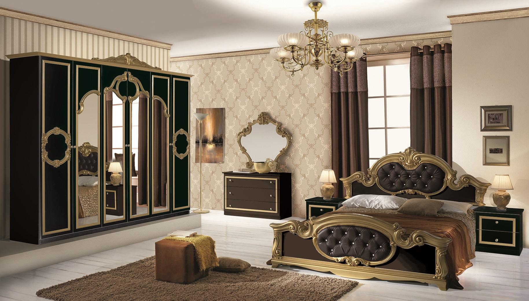 Full Size of Schlafzimmer Komplett Schwarz Set Barocco 7 Teilig In Gold 160x200 Cm Mit Schwarze Küche Bett Eckschrank Lampe Günstige Stuhl Komplette Loddenkemper Wohnzimmer Schlafzimmer Komplett Schwarz