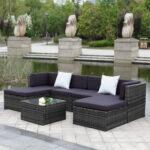 Couch Terrasse Ikayaa 7 Stcke Gepolsterten Garten Mbel Sofa Set Wohnzimmer Couch Terrasse