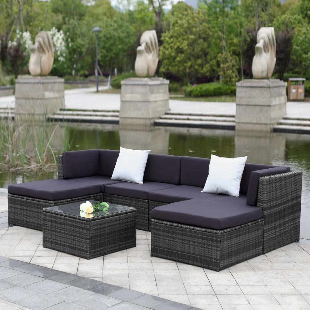 Full Size of Couch Terrasse Ikayaa 7 Stcke Gepolsterten Garten Mbel Sofa Set Wohnzimmer Couch Terrasse