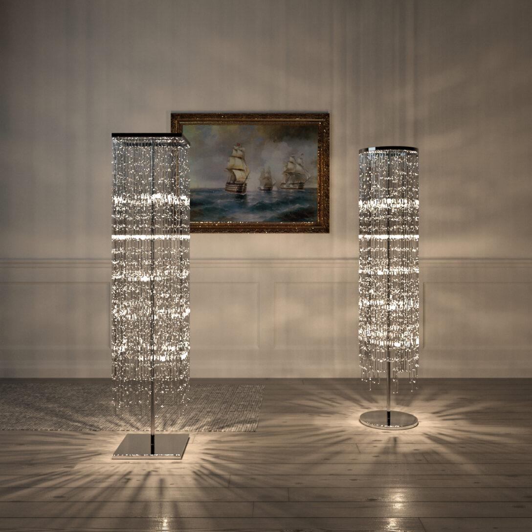 Large Size of Kostenlos Kristall Stehleuchte Kreis Quadrat 3d Modell Stehlampe Wohnzimmer Stehlampen Schlafzimmer Wohnzimmer Kristall Stehlampe