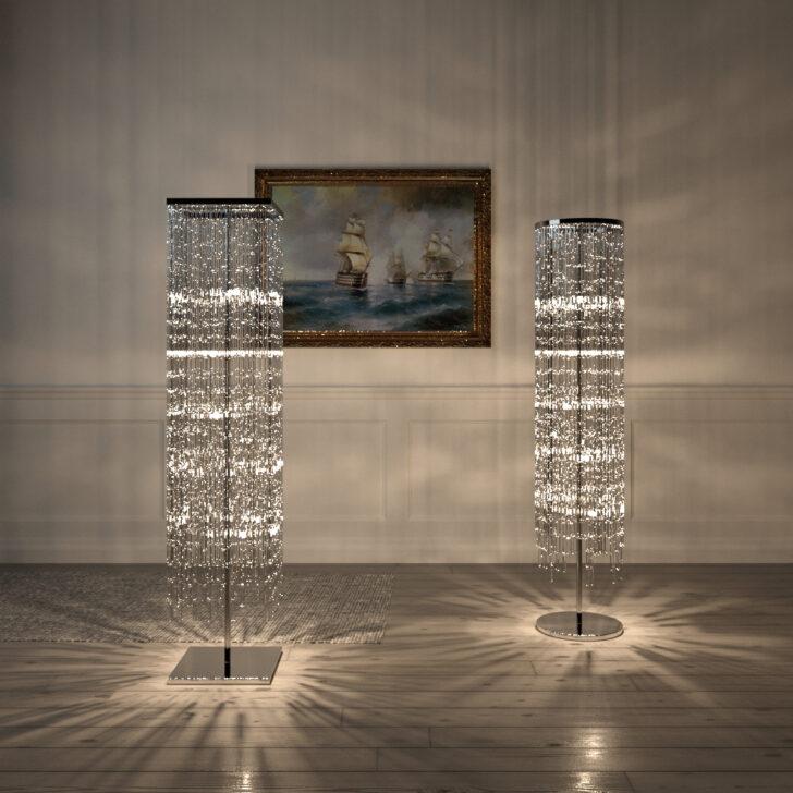 Medium Size of Kostenlos Kristall Stehleuchte Kreis Quadrat 3d Modell Stehlampe Wohnzimmer Stehlampen Schlafzimmer Wohnzimmer Kristall Stehlampe