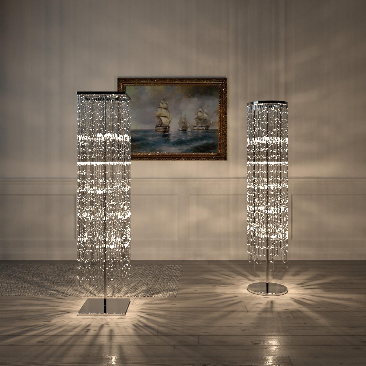 Full Size of Kostenlos Kristall Stehleuchte Kreis Quadrat 3d Modell Stehlampe Wohnzimmer Stehlampen Schlafzimmer Wohnzimmer Kristall Stehlampe