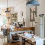 Freistehende Küchen Rustikale Kche Mit Einem Modernen Industrial Küche Regal Wohnzimmer Freistehende Küchen