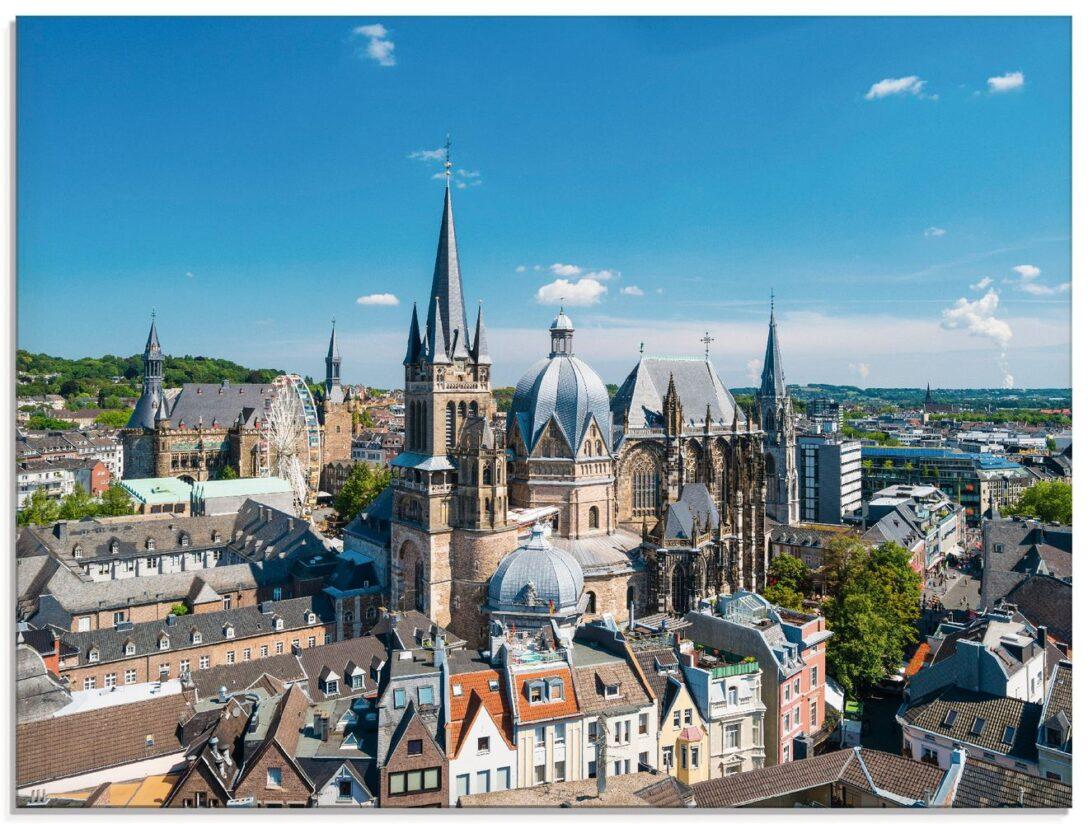 Large Size of Küchen Glasbilder David Engel Aachen Skyline Glasbild Artgalerie Bildershop Regal Bad Küche Wohnzimmer Küchen Glasbilder