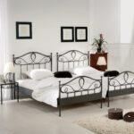 Bett Weiß 100x200 Betten Wohnzimmer Metallbett 100x200