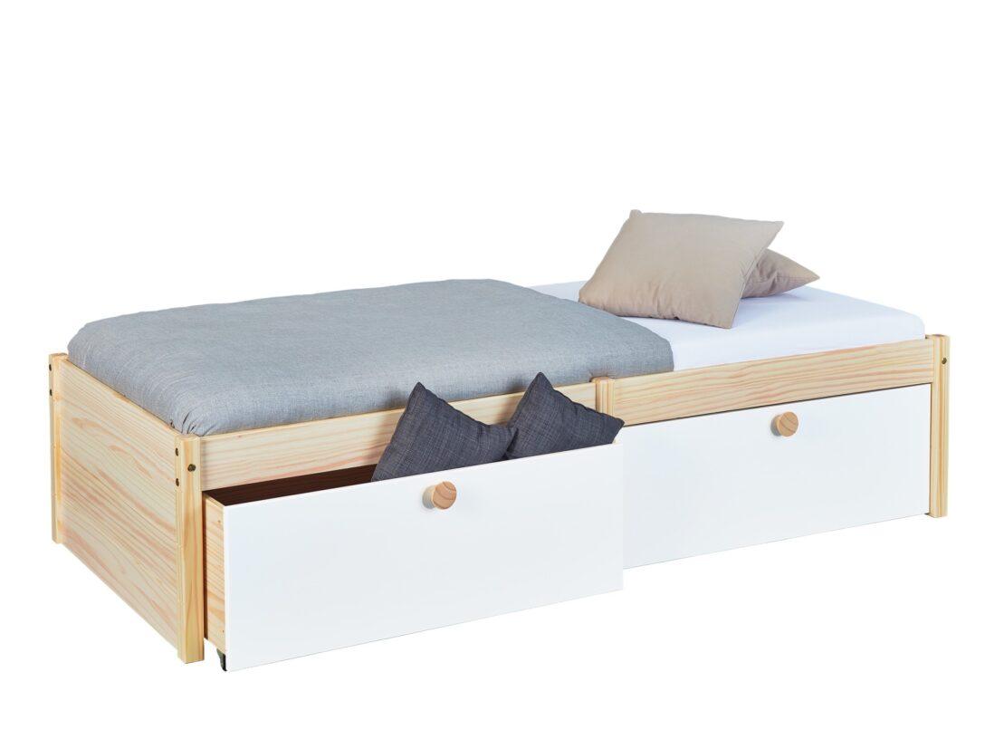 Large Size of Bett Mit Schubladen 90x200 Weiß Bettkasten Betten Lattenrost Und Matratze Weißes Kiefer Wohnzimmer Jugendbett 90x200