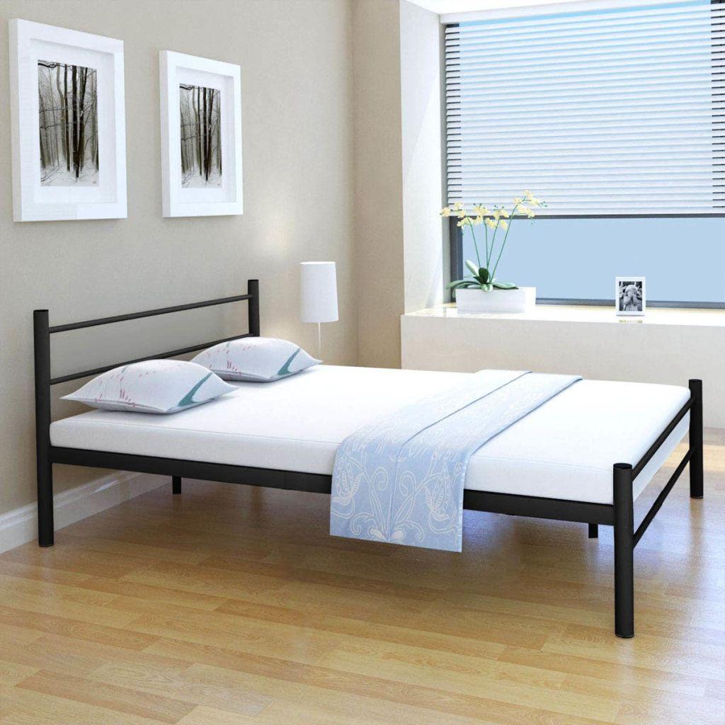 Full Size of Bett Mit Matratze Schwarz Metall 140200 Cm Gitoparts Ausklappbares Wohnzimmer Klappbares Doppelbett