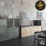 Küche Grauer Boden Graue Kuche Erweitern Landhausküche Betonoptik Vinylboden Bad Rückwand Glas Grillplatte Arbeitsschuhe Deckenleuchten Modulküche Ikea Wohnzimmer Küche Grauer Boden