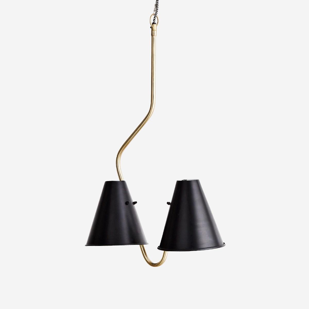 Full Size of Deckenlampe Skandinavisch Mit 2 Schirmen Aus Eisen Wohnen Schlafzimmer Esstisch Wohnzimmer Deckenlampen Für Modern Bett Küche Bad Wohnzimmer Deckenlampe Skandinavisch