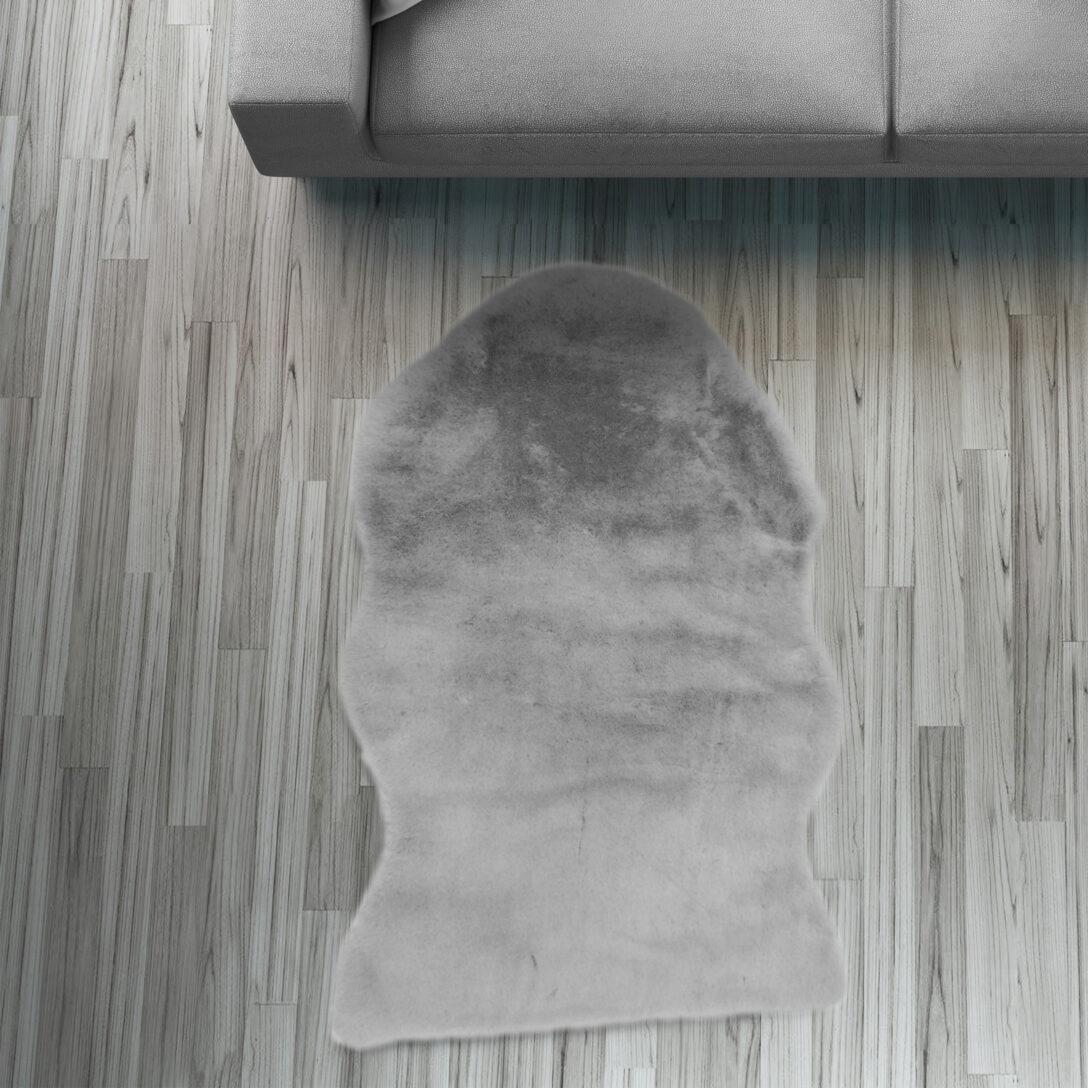 Large Size of Fell Lufer Teppich Grau 55x80 Cm Sofa Stuhl Matte Hasenfell Wohnzimmer Teppiche Home Affaire Bett Big Affair Wohnzimmer Home 24 Teppiche