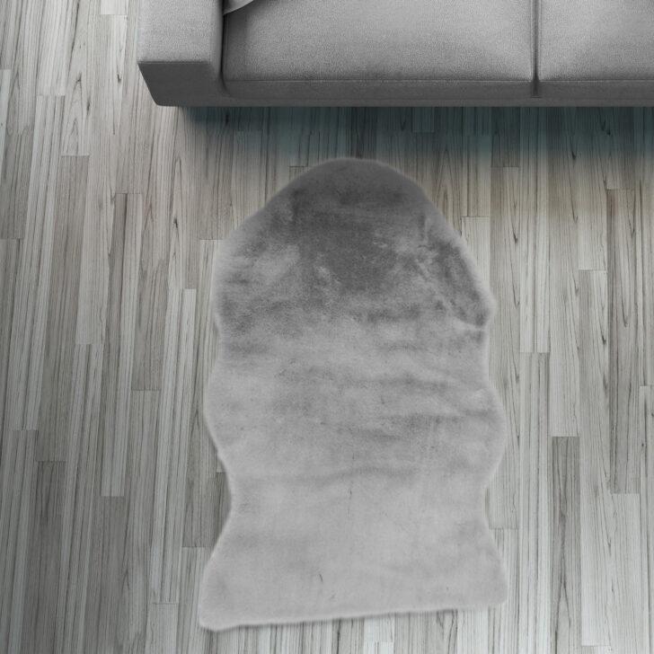 Medium Size of Fell Lufer Teppich Grau 55x80 Cm Sofa Stuhl Matte Hasenfell Wohnzimmer Teppiche Home Affaire Bett Big Affair Wohnzimmer Home 24 Teppiche