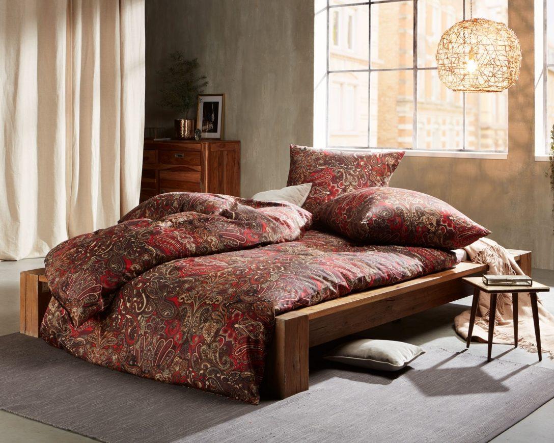 Large Size of Bettwäsche 155x220 Mako Satin Bettwsche Paisley Orientalisch Rot Von Sprüche Wohnzimmer Bettwäsche 155x220