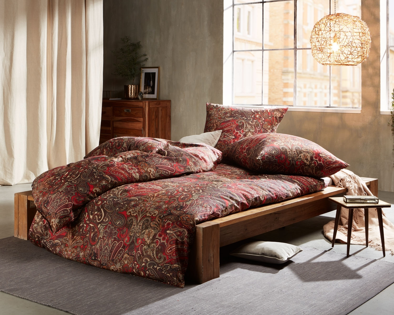 Full Size of Bettwäsche 155x220 Mako Satin Bettwsche Paisley Orientalisch Rot Von Sprüche Wohnzimmer Bettwäsche 155x220